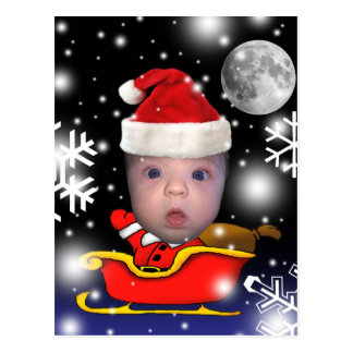 Baby Santa on Christmas Eve Postcard