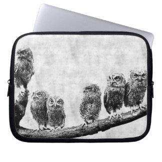 Baby Screech Owls  Electronics Sleeve Computer Sleeve