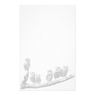 Baby Screech Owls Stationery