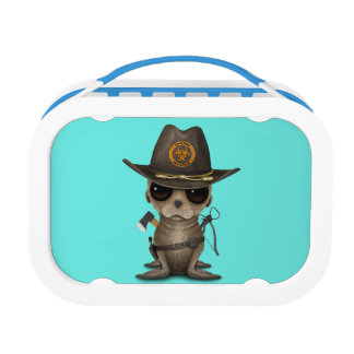 Baby Sea lion Zombie Hunter Lunch Box