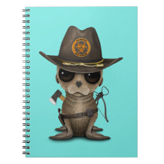 Baby Sea lion Zombie Hunter Notebook