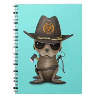 Baby Sea lion Zombie Hunter Notebooks
