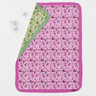Baby Seal Reversible Baby Blanket (Pink/MintGreen)