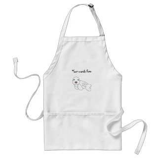 Baby seal with spots standard apron