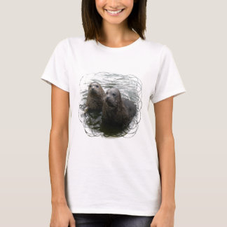 Baby Seals Ladies Fitted T-Shirt