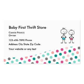 Baby Second Hand Store Pack Of Standard Business Cards