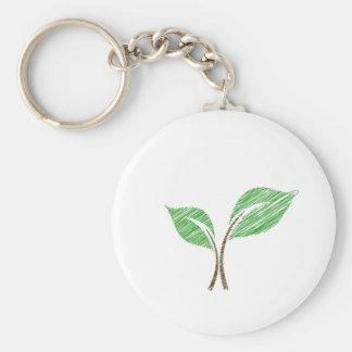 Baby seedling sketched key ring