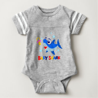 Baby Shark Baby Football Bodysuit