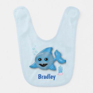 Baby Shark with Name Bib
