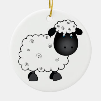 Baby Sheep For Ewe Ceramic Ornament