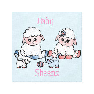 baby sheeps canvas print