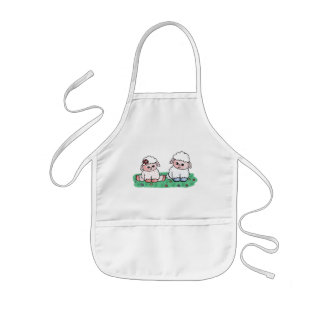 baby sheeps kids apron