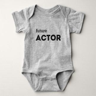 "BABY SHIRT HEATHER GREY ""FUTURE ACTOR"""