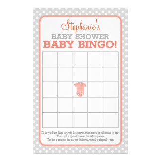Baby Shirt (orange) Baby Bingo 14 Cm X 21.5 Cm Flyer