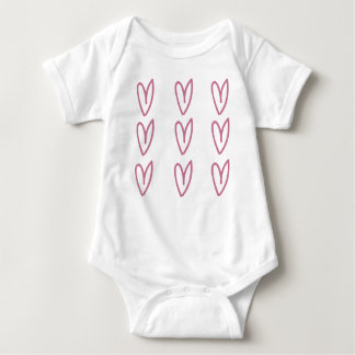 Baby Shirt with Hearts
