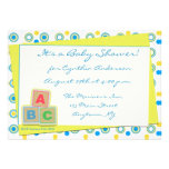 Baby Shower ABC Blocks Personalised Announcement