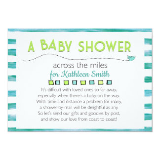 Baby shower Across the Miles Card