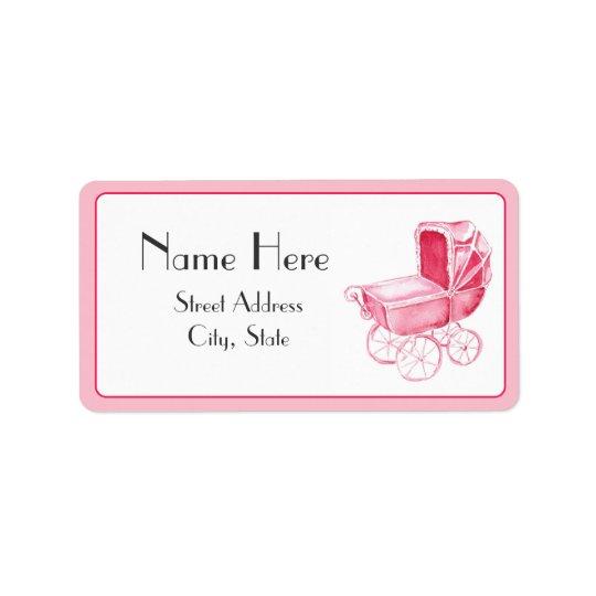 Baby Shower Address Label