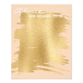 "Baby Shower Advice Card ""Classic Gold/Pink"""