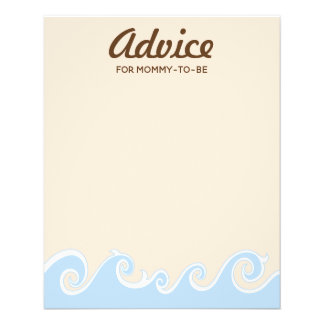 "Baby Shower Advice Card ""Under the Sea Mobile"""