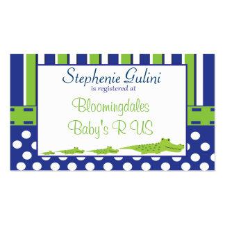 Baby Shower Alligator Registration Card Pack Of Standard Business Cards
