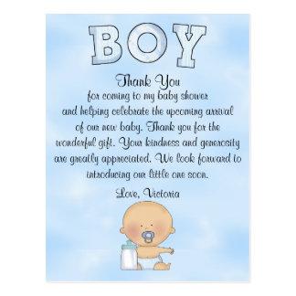 Baby Shower Baby Boy Postcard