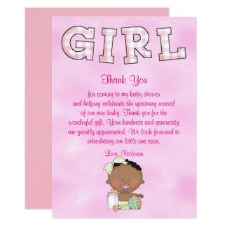 Baby Shower Baby Girl Ethnic Card