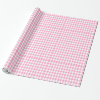 baby shower,baby girl,pink gingham wrapping paper