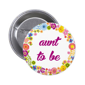 Baby Shower Badge - Aunt to be
