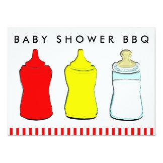 baby shower bbq 14 cm x 19 cm invitation card