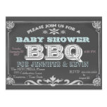 Baby Shower | BBQ | Chalkboard Postcard