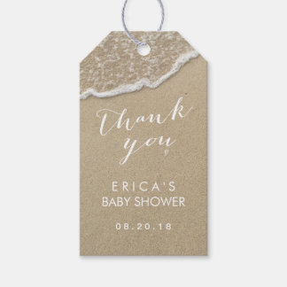 Baby Shower Beach Waves Thank You Gift Tags