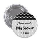 Baby Shower, Black and White Polka Dot Pattern.