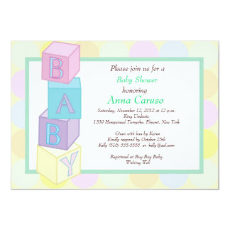 Baby Shower Blocks Invitation