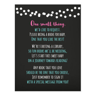 Baby Shower Book Card