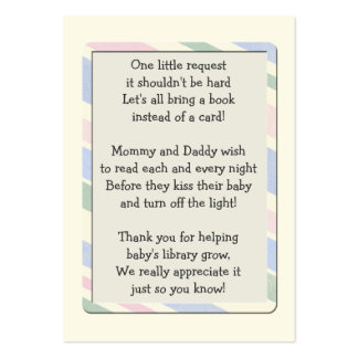 Baby Shower Book Request Insert Card Business Card Templates