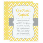 Baby Shower Book Request | Yellow and Grey Card