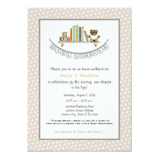 Baby Shower Book Themed Unisex Invitation 11 Cm X 16 Cm Invitation Card