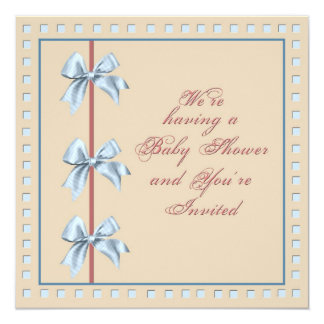 Baby shower bows - Boy or Girl Baby Invitations