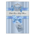 Baby Shower Boy Blue White Prince Crown