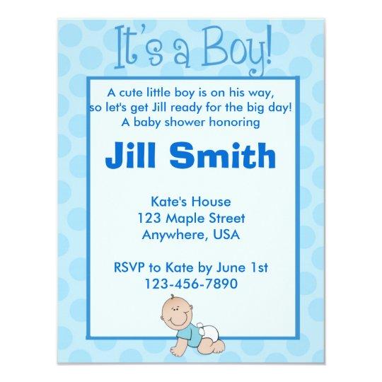 Baby Shower - Boy Card