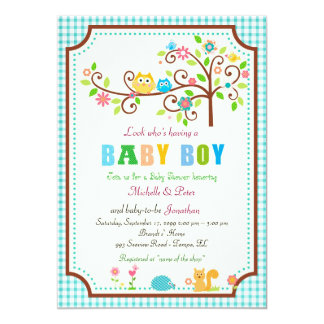 Baby Shower boy, modern, trendy, classy, colorful. Card