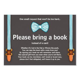 Baby Shower Bring a book card Little Man 9 Cm X 13 Cm Invitation Card