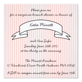 "Baby Shower Brunch Invitation 5.25"" Square Invitation Card"