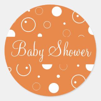 Baby Shower Bubbles Envelope Sticker Seal