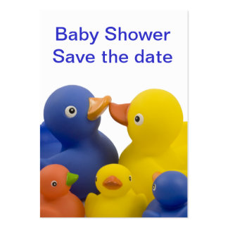Baby shower business card -  Duck Family Group