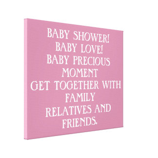 baby shower canvas print
