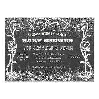 Baby Shower Chalkboard w/ Chalk Glitter 13 Cm X 18 Cm Invitation Card