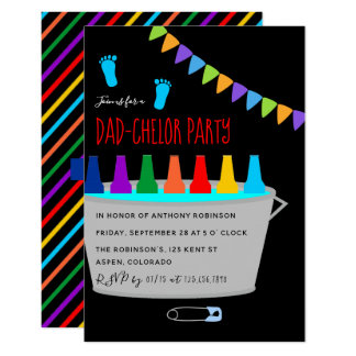 Baby Shower Christening Dad-chelor Beer Keg Party Card