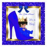 Baby Shower Cute Boy Prince Royal Blue Shoe